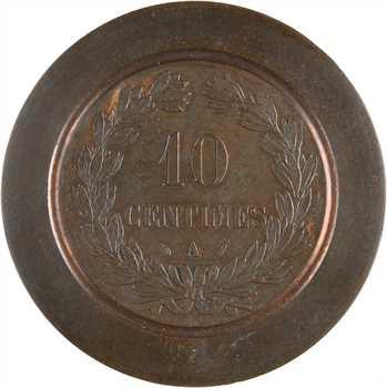 IIIe République, épreuve de frappe de motif central pour 10 centimes Cérès, s.d. (c.1870) Paris