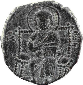 Constantin IX ou milieu XIe siècle, follis anonyme, classe D, Constantinople, s.d. (c.1042-1055)