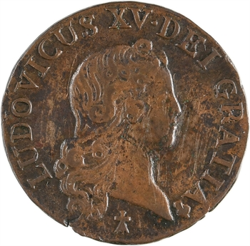 Louis XV, liard au buste enfantin, 1721 Reims