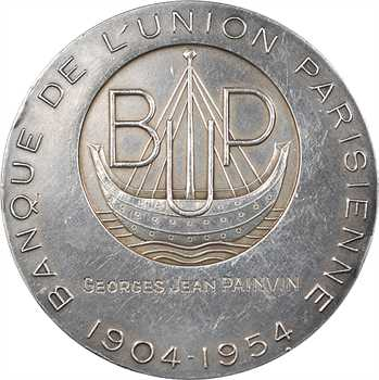 IVe République, Banque de l'Union Parisienne, par Simon, 1954 Paris