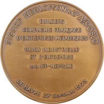 Ve République, Compagnie Française d'Entreprises Métalliques (Le Havre), la plate-forme pétrolière Penta 83, 1973