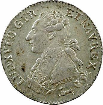 Louis XVI, cinquième d'écu aux rameaux d'olivier, 1784 Orléans