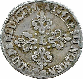 Louis XIII, demi-franc 13e type, 1641 Montpellier