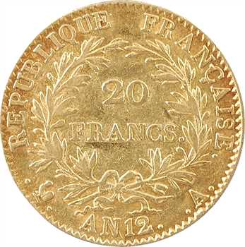 Consulat, 20 francs, An 12 Paris
