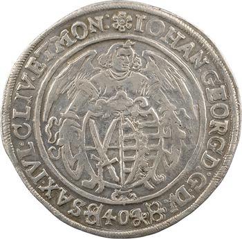 Allemagne, Saxe (duché de), Jean-Georges Ier, kipper-thaler de 40 gros, 1621 Dresde
