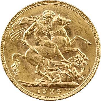 Australie, Georges V, souverain, 1924 Melbourne
