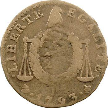 Convention, 1/2 sol aux balances, 1793 La Rochelle