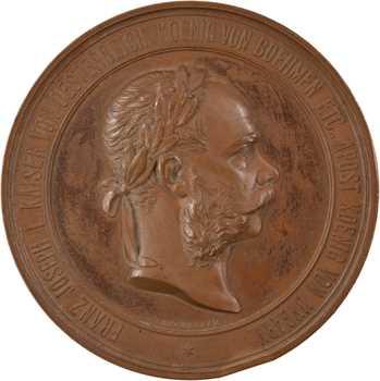 Autriche, François Joseph Ier, exposition internationale de Vienne, par Tautenheyn, 1873