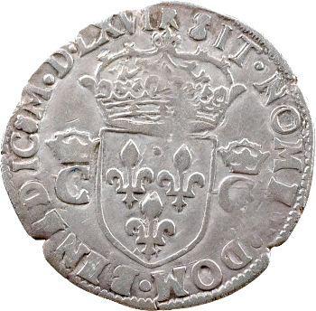 Charles IX, demi-teston 2e type, 1566 Toulouse