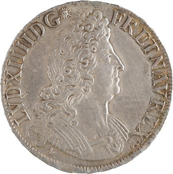 Louis XIV, écu aux huit L, 2e type, flan neuf, 1708 Bordeaux