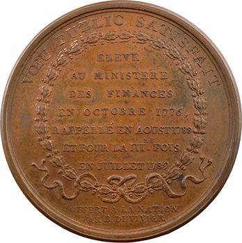 Constitution, Necker rappelé au ministère en juillet 1789, par Duvivier, 1789 Paris