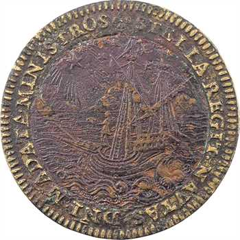 Chartres, Alphonse II d'Este duc de Ferrare et de Chartres, jeton bimétallique, s.d. (avant 1597) Paris