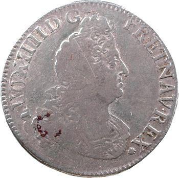 Louis XIV, demi-écu aux insignes, 1702 Paris