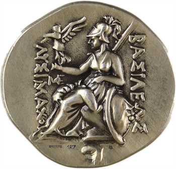 Ve République, copie de tétradrachme de Thrace pour Lysimaque, en argent, 1977 paris