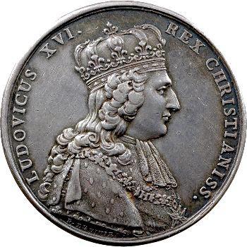 Louis XVI, médaille du sacre et de mariage, 1775 et 1785