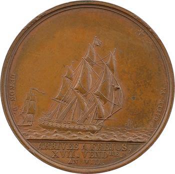 Égypte, débarquement de Napoléon Ier à Fréjus, 17 vendémiaire An VIII (9 octobre 1799), par Galle, An VIII Paris