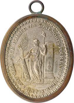 Convention, cliché uniface à la Liberté, 1793 Paris