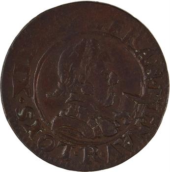 Louis XIII, double tournois 1er type, 1618 Villeneuve-lès-Avignon