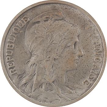 IIIe République, essai de 10 centimes Daniel-Dupuis, bronze-argenté, 1898 Paris