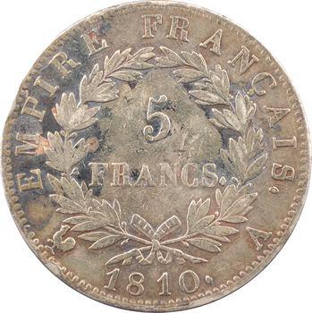Premier Empire, 5 francs Empire, 1810 Paris