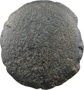 Ambiens, statère de bronze uniface aux deux esses, c.60-50 av. J.-C.