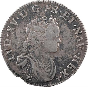 Louis XV, dixième d'écu dit vertugadin, 1717 Tours
