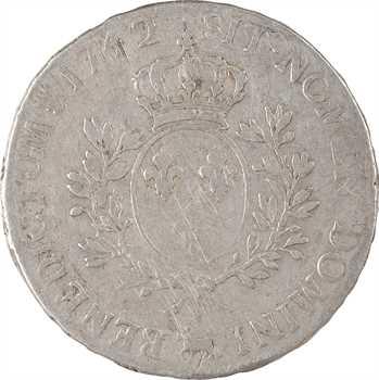 Louis XV, écu au bandeau du Béarn, 1742 Pau