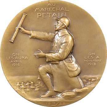 IIe Guerre Mondiale, le Maréchal Pétain, par Vernier, 1922 Paris