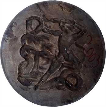Delamarre (R.) : Héraclès (Hercule combattant les forces du mal), grande fonte, s.d. (1965) Paris