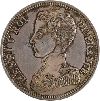 Henri V, 5 francs, 1831 Bruxelles (Würden)