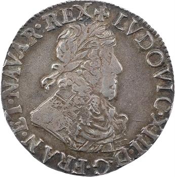 Louis XIII, demi-franc 14e type, 1639 Troyes