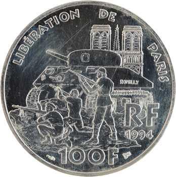 Ve République, essai de 100 francs Libération de Paris, 1994 Pessac
