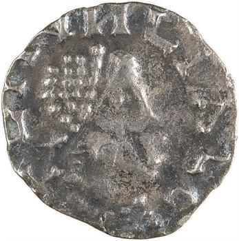 Neustrie, Paris, sous Ebroïn, trémissis en or pâle, imitation d'Éloi, Moussy (Munciaco), s.d. (c.650-670)