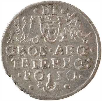 Pologne (royaume de), Sigismond III, III gros, 1624