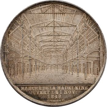 Belgique, Bruxelles, ouverture du marché de La Madeleine, par Wiener, 1848
