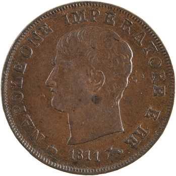 Italie, Napoléon Ier, centesimo 2e type, 1811 Milan