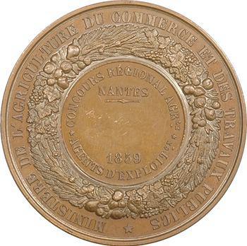 Second Empire, concours agricole de Nantes, agents d'exploitation, 1859 Paris
