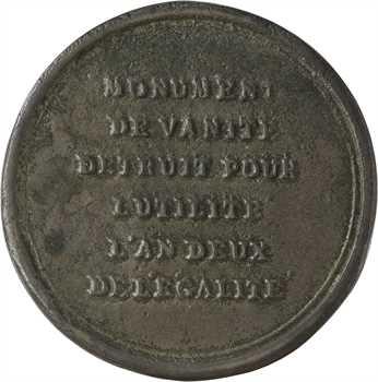 Convention, destruction de la cloche Georges d'Amboise à Rouen, AN 2 (1793)