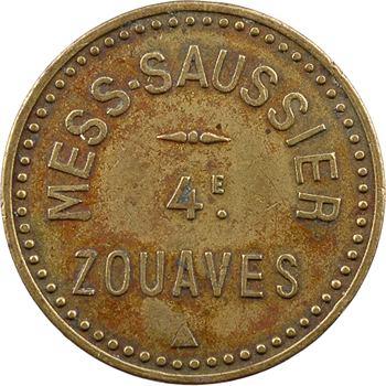 Tunisie, Tunis, mess de Saussier, 4ème régiment de zouaves, bon pour un billard, s.d