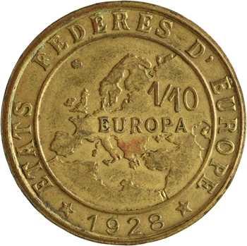 IIIe République, 1/10e europa, 1928