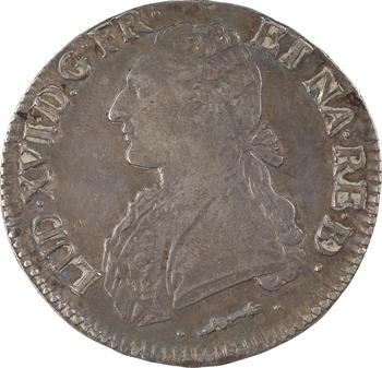 Louis XVI, écu aux branches d'olivier du Béarn, 1784 Pau