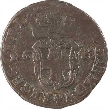 Savoie (duché de), Charles-Emmanuel II, régence de sa mère, 5 soldi, 1648 Turin