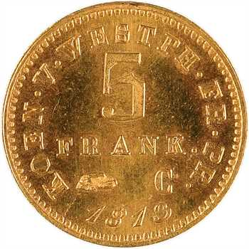 Allemagne, Westphalie (royaume de), Jérôme Napoléon, 5 franken, 1813 Cassel