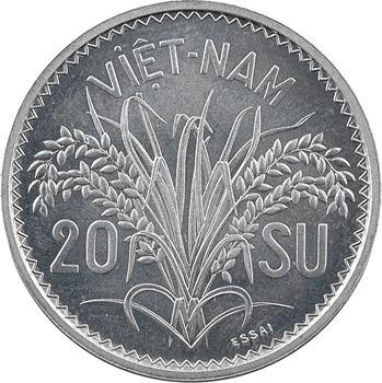 Viêt Nam, essai de 20 Su, 1953 Paris