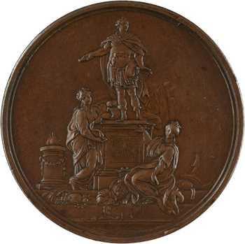 Louis XV, pose première pierre de sa statue à Rennes, 1744 Paris
