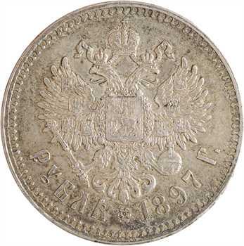 Russie, Nicolas II, rouble, 1897 Saint-Pétersbourg