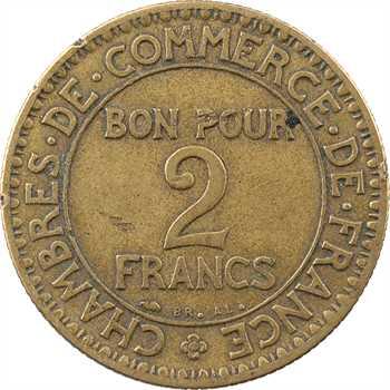 IIIe République, 2 francs Chambres de commerce, 1927 Paris