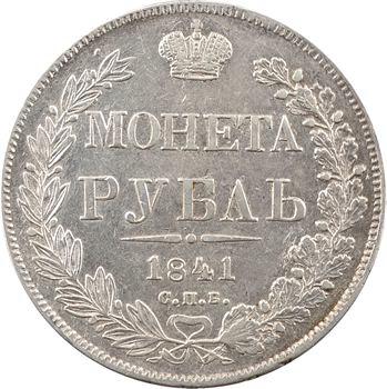Russie, Nicolas Ier, rouble, 1841 Saint-Pétersbourg