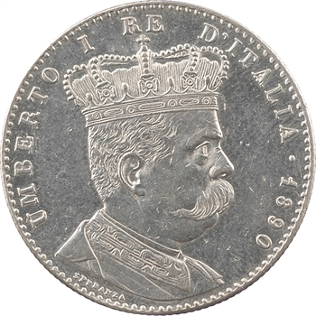 Erythrée, colonie italienne, Humbert Ier, 2 lire, 1890 Rome