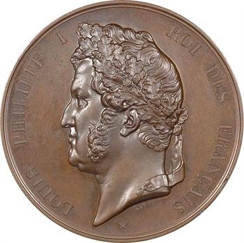Louis-Philippe Ier, première pierre du pont-canal d'Agen, 1839 Paris
